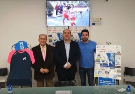 De izquierda a derecha: Juan Sánchez, Joaquín Martínez y Carlos Semitiel en la presentación de la prueba deportiva
