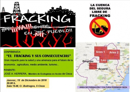 "Podemos: ""El fracking sigue amenazando a Cieza"""